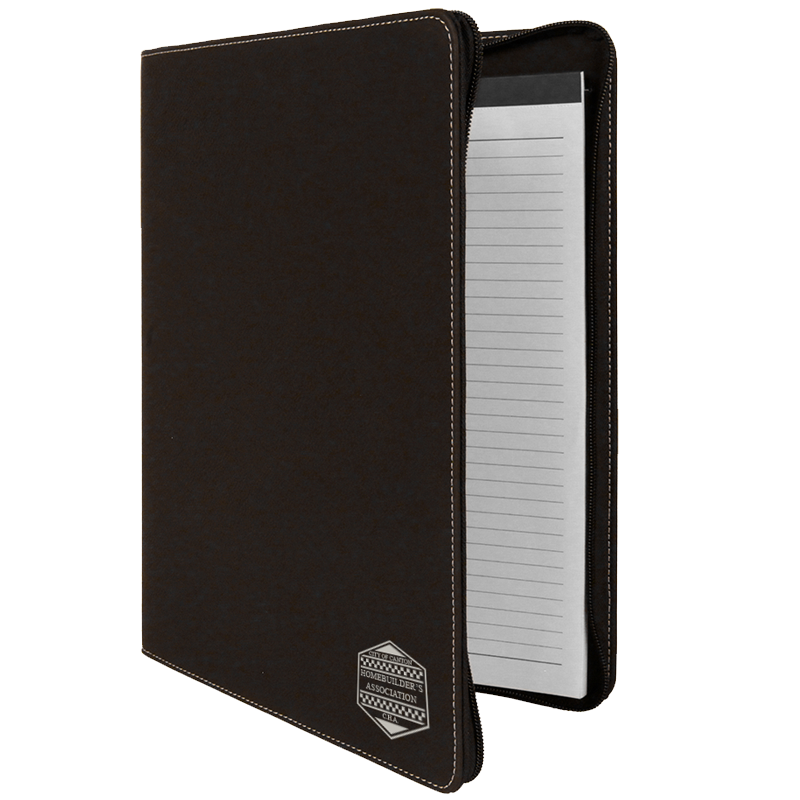 "9 1/2 "" x 12"" Leatherette Portfolio with Zipper"