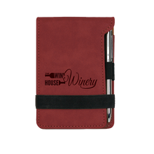 Load image into Gallery viewer, Leatherette Notepad with Pen