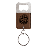 Leatherette Bottle Opener Keychain