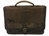 Laser Engraved Foreman Leather Briefcase
