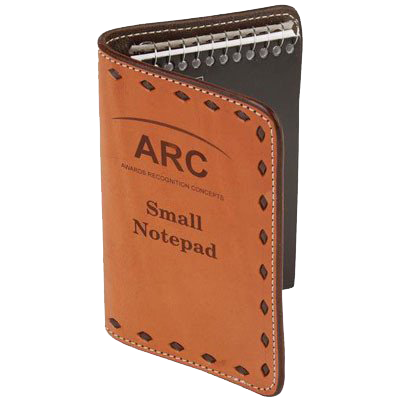 Leather Stamped Note Pad cover