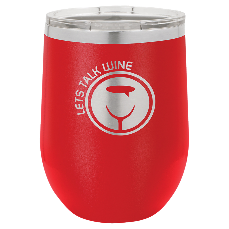 12 oz Stemless Powder Coated Wine Tumbler