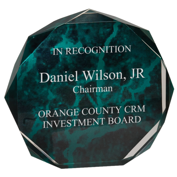 Octagon Acrylic Awards