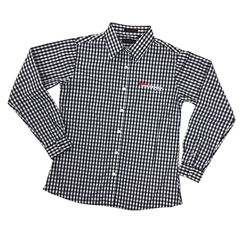 Pro Horseman Black and White Check Button-down