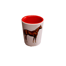 Load image into Gallery viewer, White & Red AQHA Shot Glass