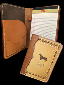 AQHA Small Leather Notebook