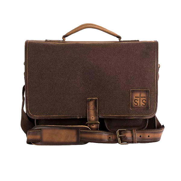 Dark Canvas Foremans Portfolio Leather Trim