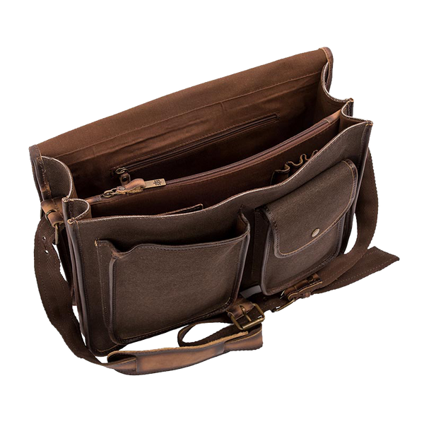 Pro Horseman Dark Canvas Portfolio Bag