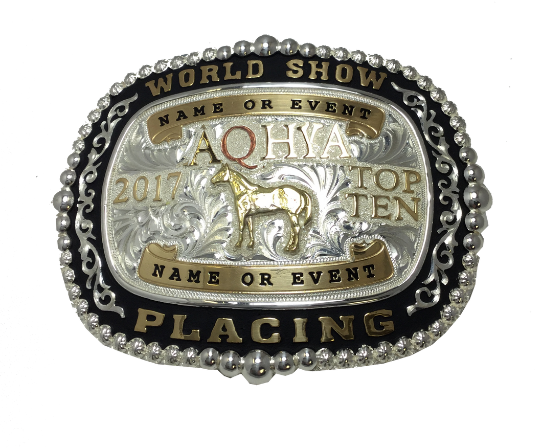 AQHYA Youth World Show Top 5 & Top 10 Premium Buckle (R)