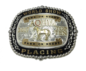 AQHYA Youth World Show Top 5 & Top 10 Exclusive Buckle (R)