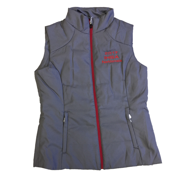 Grey/Red Insulated Vest