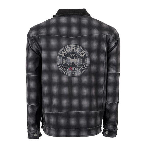 2019 Youth World Show Black Plaid Perf Jacket