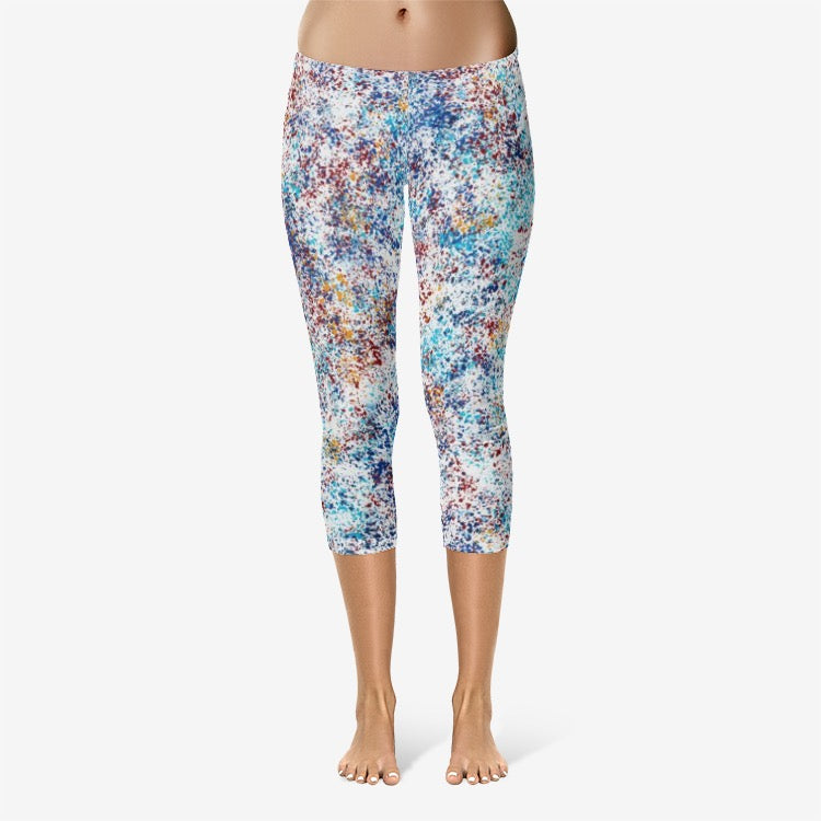 All-Over Print Capri Leggings