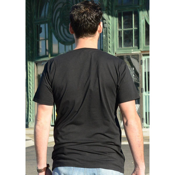 Find Your Way - Men's Black Organic Cotton T-shirt - Teeminder