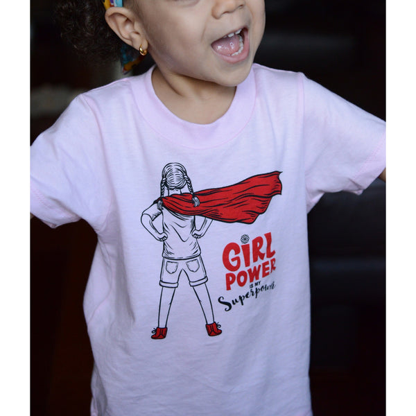 Girl Power Is My Super Power  - Toddler Organic Cotton T-shirt - Teeminder