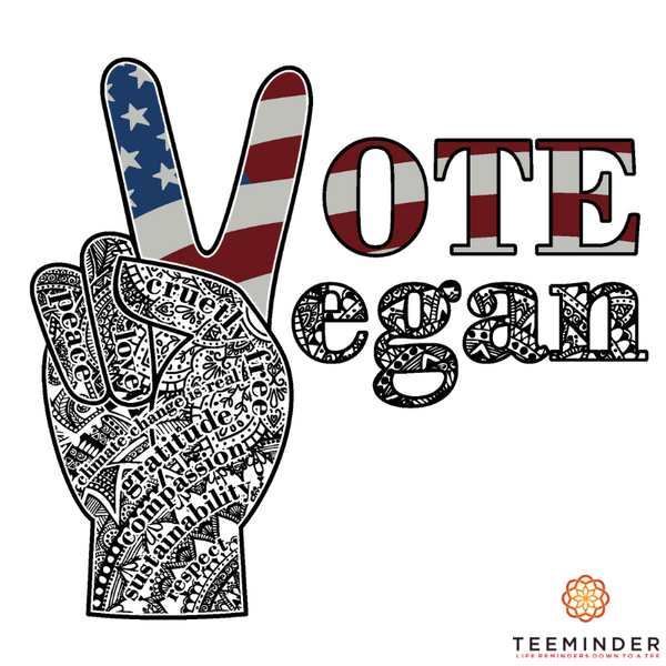 Vote Vegan - Unisex Denim Blue Organic Cotton T-shirt