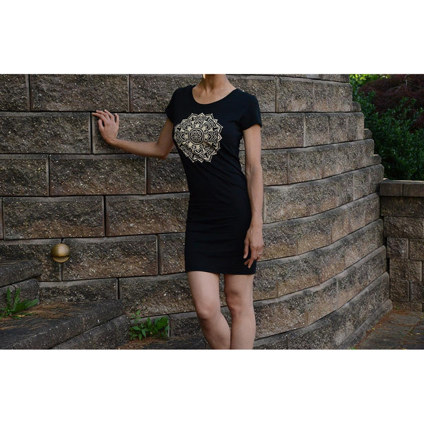 Mandala - Women's Bamboo Organic T- Dress