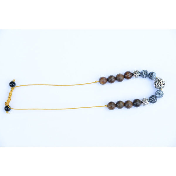 Black Hematite and sandalwood beads Chakra Bracelet - Teeminder
