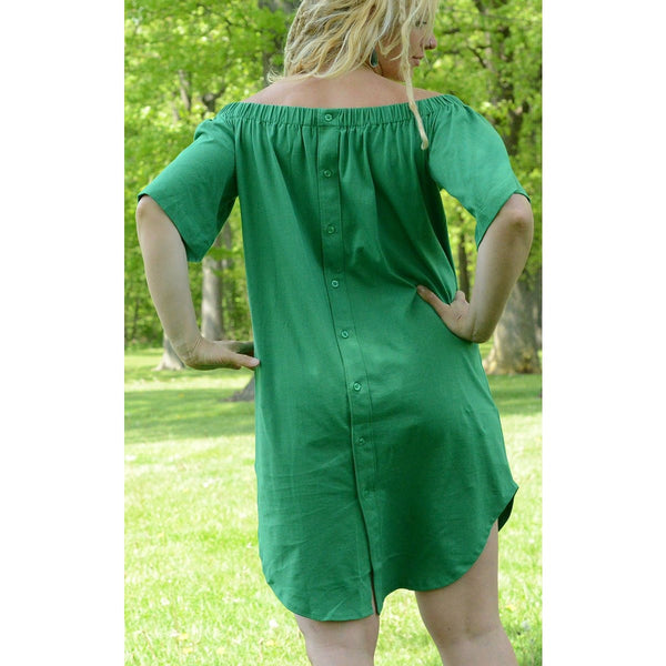 Feather Green - Exclusive Women's Midi Dress - Teeminder