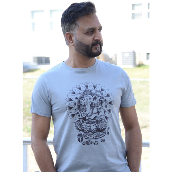 Bali Ganesha - Men's 100% Combed Organic Cotton T-shirt