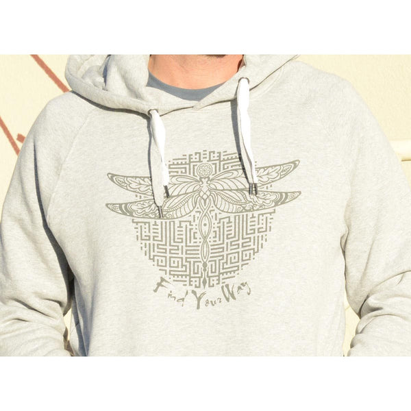 Find Your Way - Unisex Light Gray Organic Cotton Hoodie
