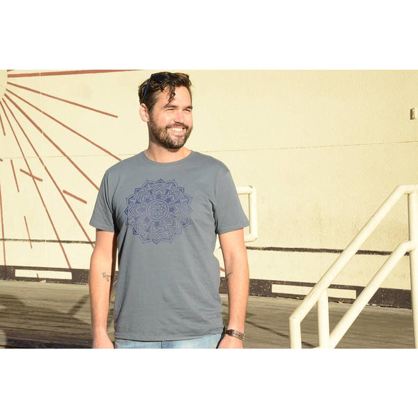 Mandala - Men's Dark Gray Organic Cotton T-shirt