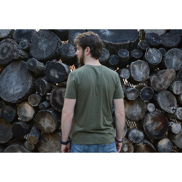 Keep Growing - Men's Army Green Organic Cotton T-shirt - Teeminder