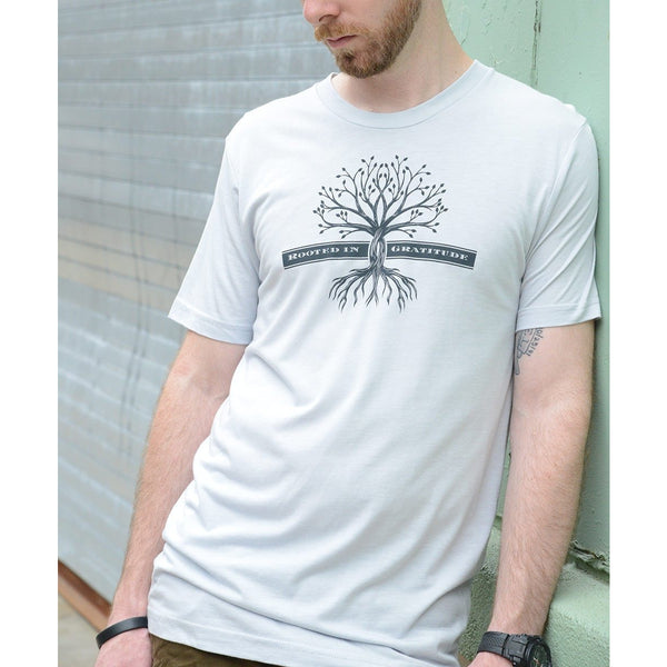 Rooted in Gratitude - Men's Organic Cotton/Bamboo Blend T-shirt - Rebooted
