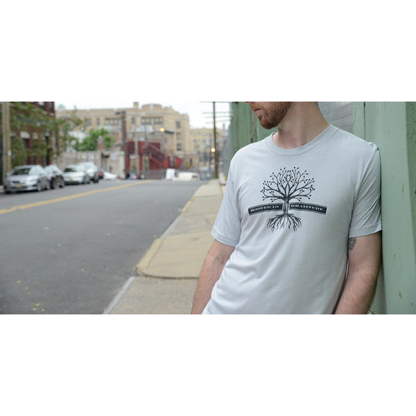 Rooted in Gratitude - Men's Organic Cotton T-shirt - Rebooted - Teeminder