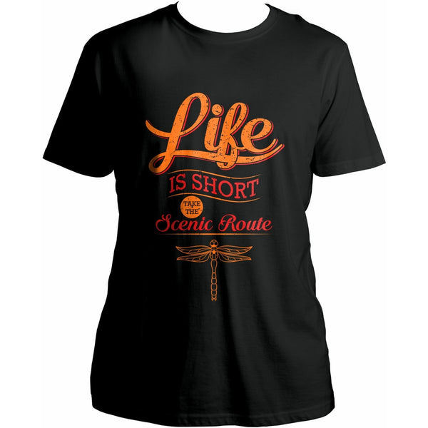 Life is short, take the scenic route - Men's Organic Cotton T-shirt - Teeminder