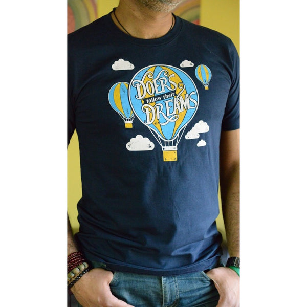 Doers follow their dreams - Men's Organic Cotton T-shirt - Teeminder