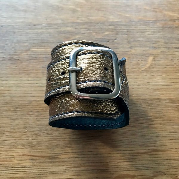 Metallic Leather Cuffs