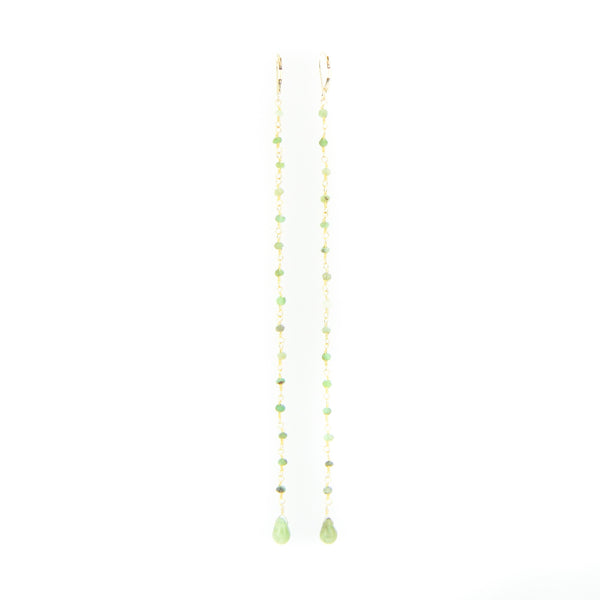 Gold Long Drop Earring