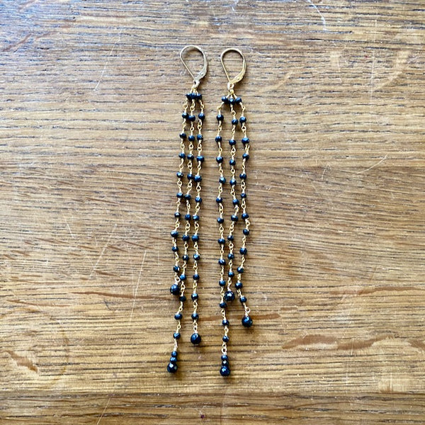 Triple Long Drop Earrings