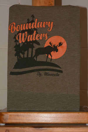 Short Sleeve Boundary Waters Tee Shirt featuring BWCA Moose logo