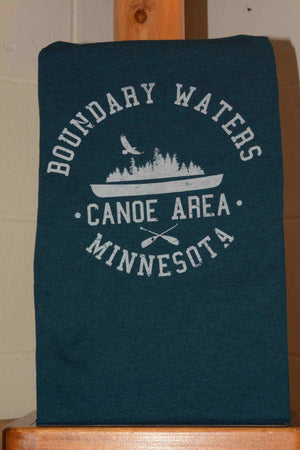 Short Sleeve Tee Shirt featuring BWCA paddling logo