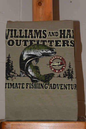 Short Sleeve Williams and Hall Outfitters Ultimate Fishing Adventure Tee Shirt
