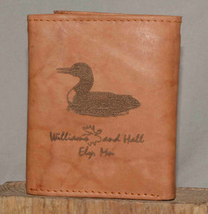 Williams and Hall Outfitters leather wallet