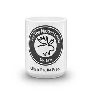 Cimb On. Be Free. Mug with Moose Logo.