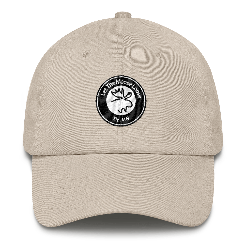 Cotton Cap - Moose Logo on front.  Climb On. Be Free. on back.