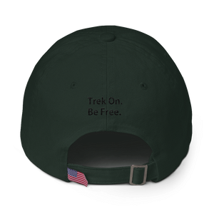 Cotton Cap - Moose Logo on front. Trek On. Be Free. on back.