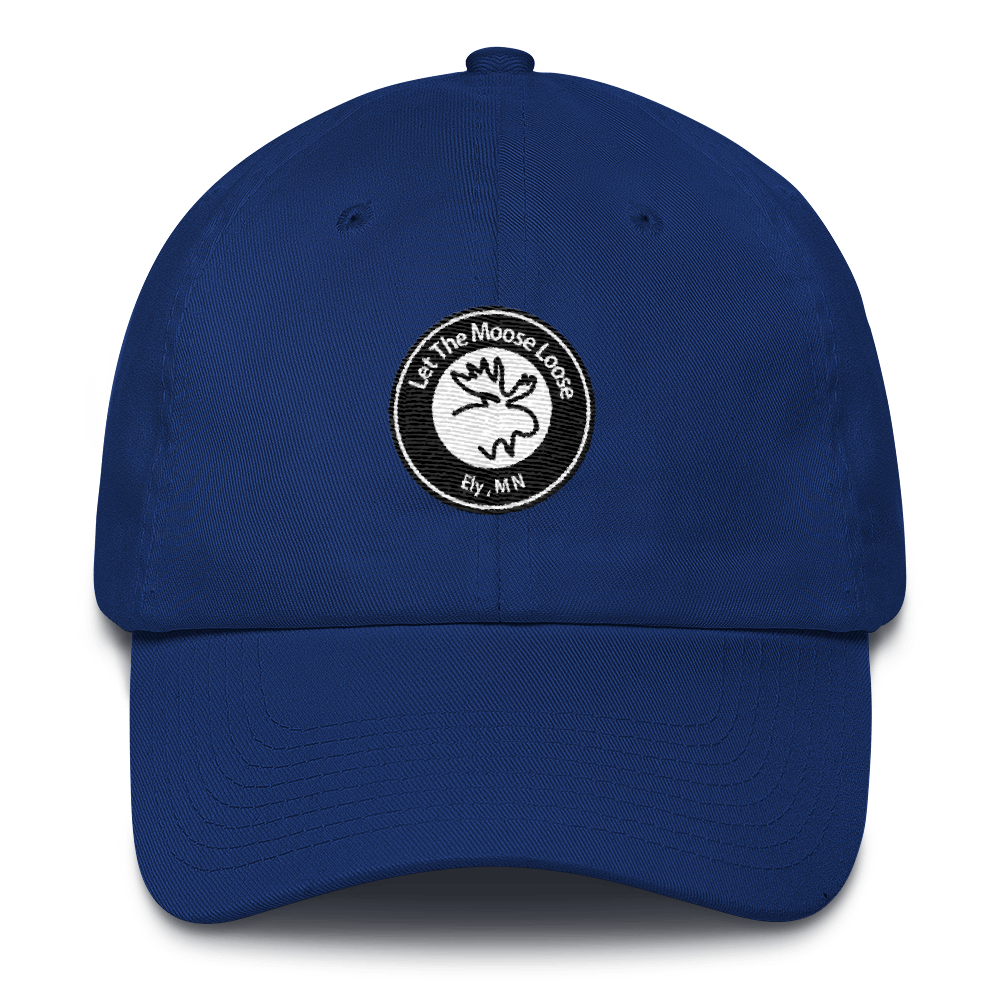 Cotton Cap - Moose Logo on front.  Hike On. Be Free. on back.