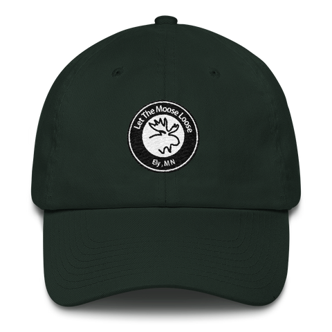 Cotton Cap - Moose Logo on front.  Adventure On. Be Free. on back.