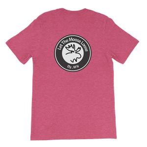 Climb On. Be Free. Unisex short sleeve t-shirt with Williams and Hall banner on the front and Moose Logo on the back.