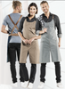 Chaud Devant Bib Apron Forene CROSS Blue Denim 63299