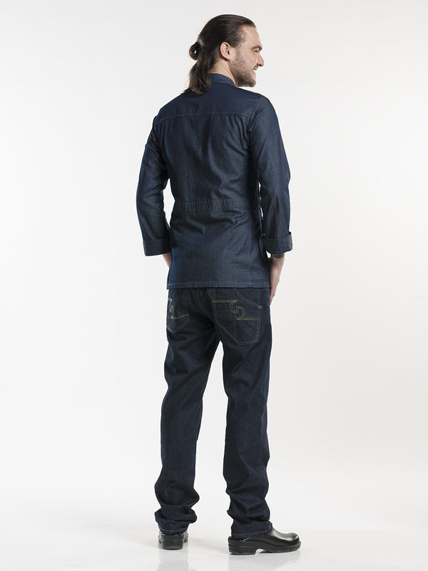 Chaud Devant Parka Blue Denim Stretch koksvest 286