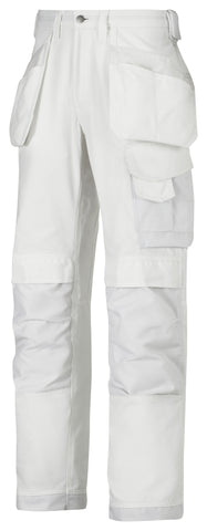 Snickers 3214 Canvas+ Broek met holsterpockets - Wit