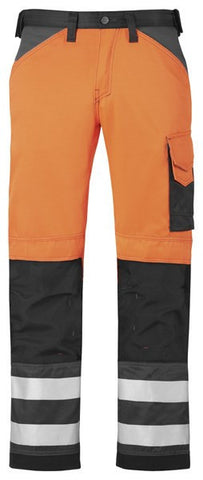 """Snickers 3333 Broek High Visibility, Klasse 2"""