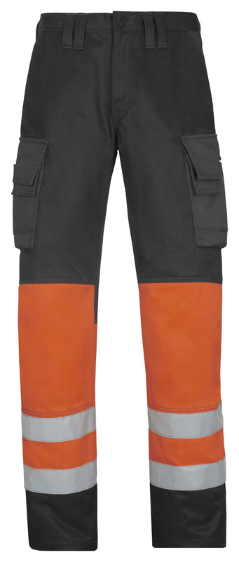 Snickers 3833 Broek High Visibility - Klasse 1