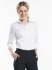 """Chaud Devant Women White Stretch 3/4 Sleeve Overhemd/Blouse 612"""